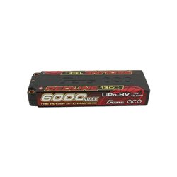 Gens ace Battery LiPo 2S HV 7.6V-6000-130C(5mm) 139x47x23mm 275g