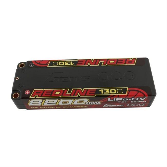 Gens ace Battery LiPo 2S HV 7.6V-8200-130C(5mm) 139x47x26mm 300g