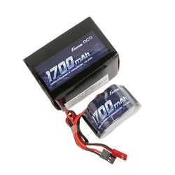 Gens ace Rx Battery NiMh 6.0V-1700Mah (Dual JR-JST) 125g - Hump