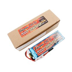 Gens ace Rx Battery LiPo 2S-7.4V-2600 (JR plug) 92g - Straight