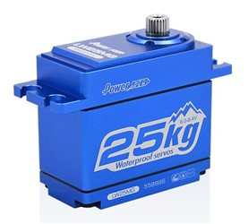 SERVO HD LW-25MG WATERPROOF BLUE ALU CASE (25.0KG.0.141SEC)