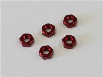 NUT M3 x2.4 (5) - ALU/RED