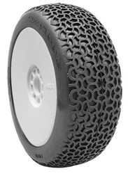 1:8 BUGGY TYRES ON EVO WHITE RIMS SCRIBBLE CLAY (2)