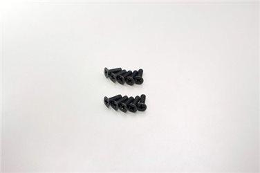 FLAT HEAD 3X10MM METALLIC SCREWS (10)